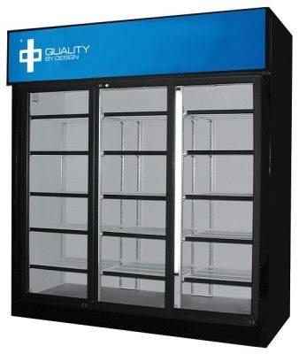 QBD Triple Sliding Door Commercial Display Cooler